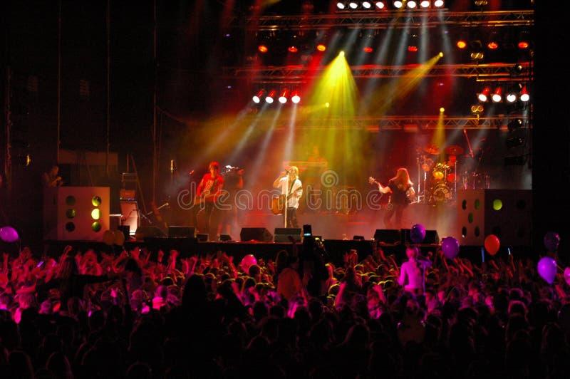 3 rock koncertów zdjęcie stock