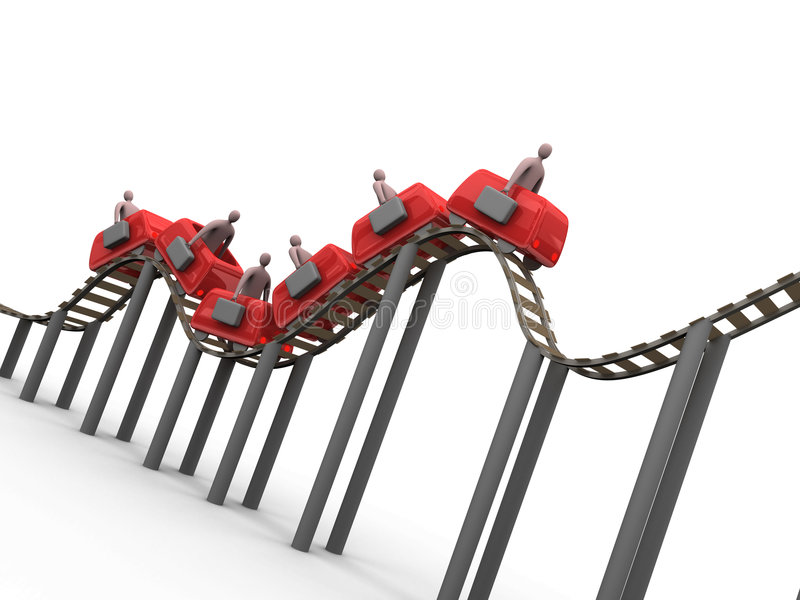 3 roller coaster przedsiębiorstw royalty ilustracja