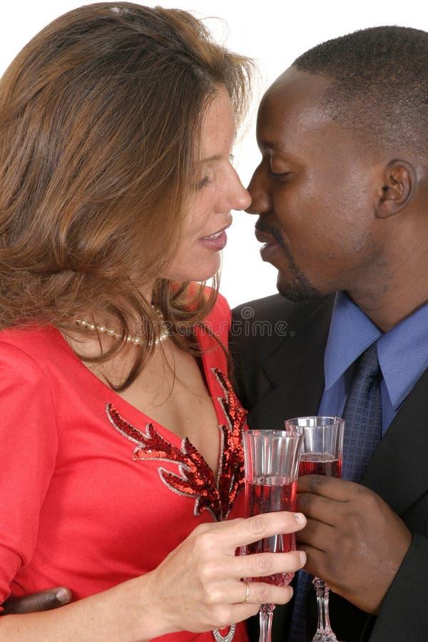 3 romantyczna para świętować obrazy stock