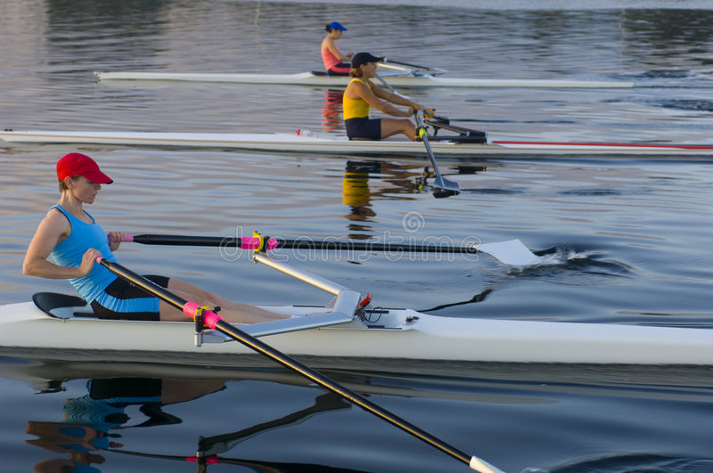 Download 3 Rowers stock image. Image of dawn, sculling, lifestyle - 7061313