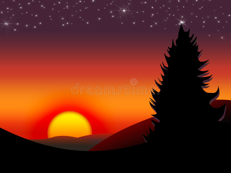 3 słońca royalty ilustracja