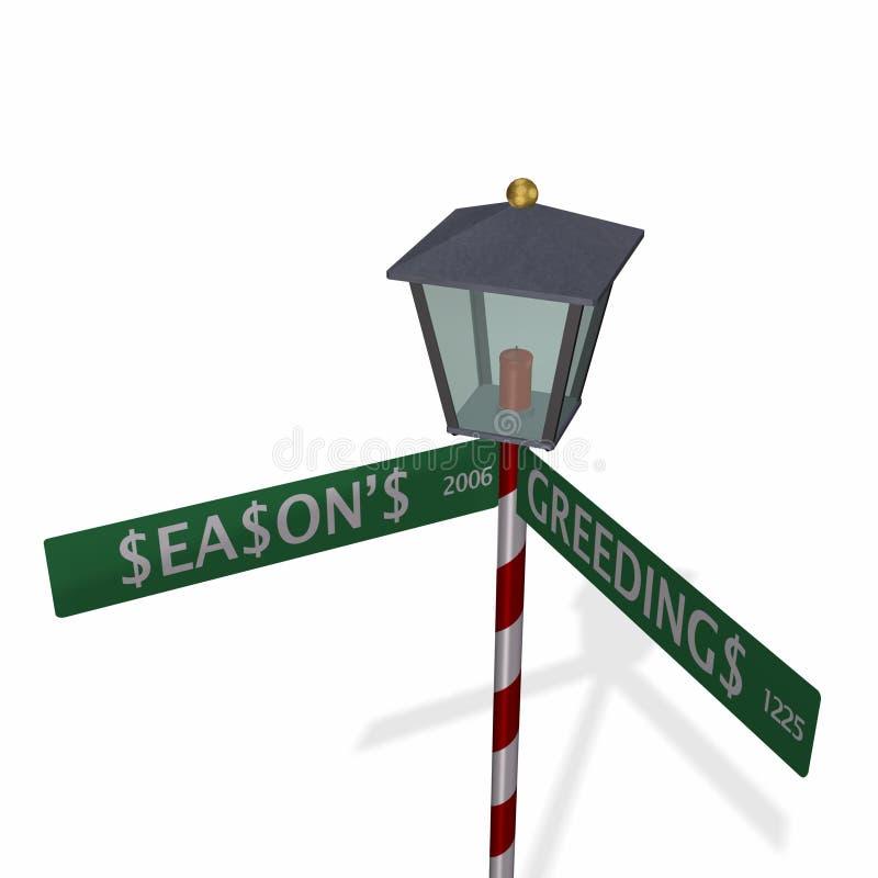 3 s greedings sezonu znaku street ilustracji
