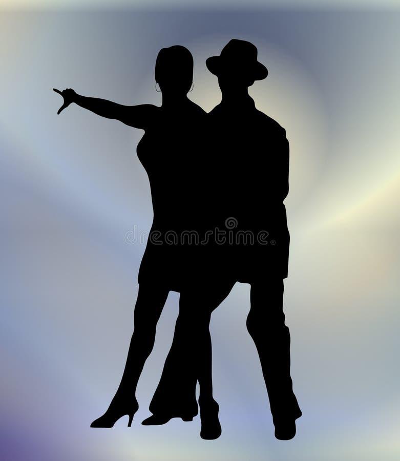 3 sali balowej taniec ilustracja wektor