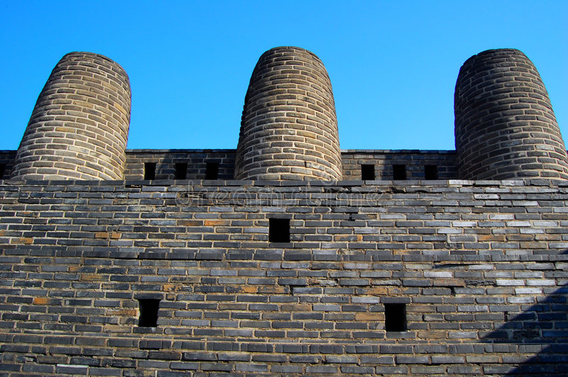 3 schoorsteen in Hwaseong Vesting, Suwon, stock foto