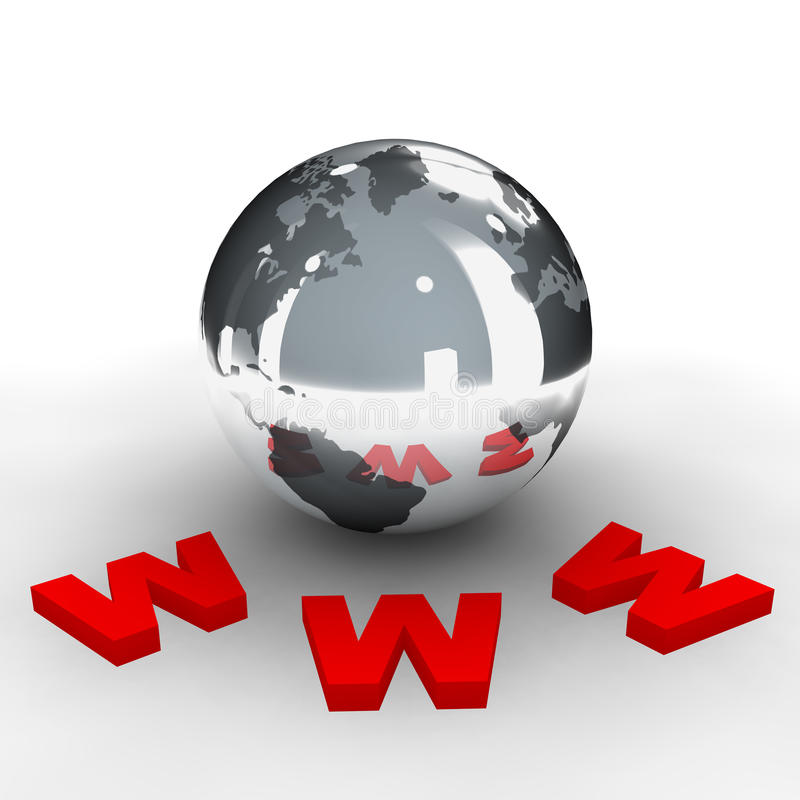 3 sieci szeroki świat royalty ilustracja