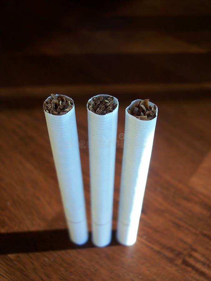 3 Sigaretten Stock Afbeelding