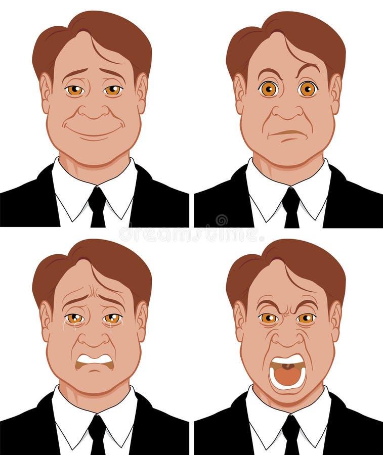 3 sinnesrörelser vektor illustrationer