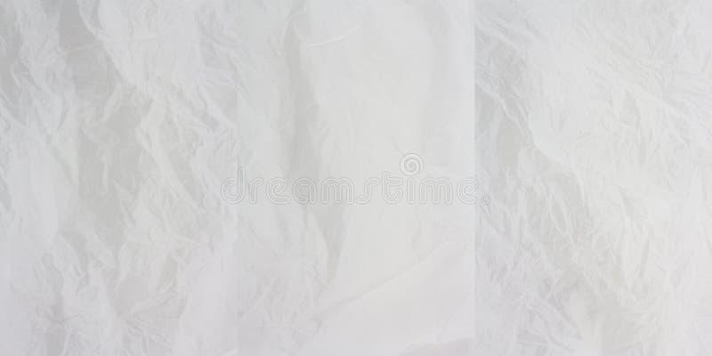 3 skrynklig paper white x royaltyfri fotografi