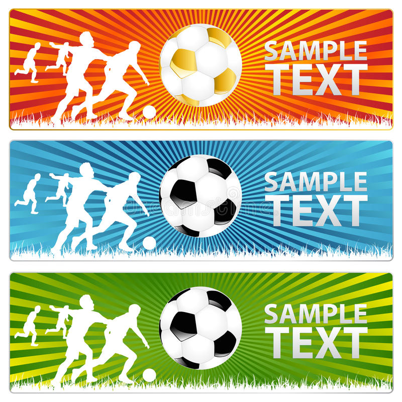 Download 3 Soccer Ball  Or Football Banners. Vector Stock Vector - Image: 14479547