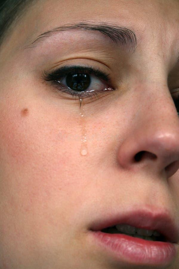 3 som gråter arkivbild