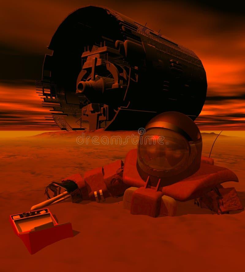 3 spacewreck 免版税图库摄影