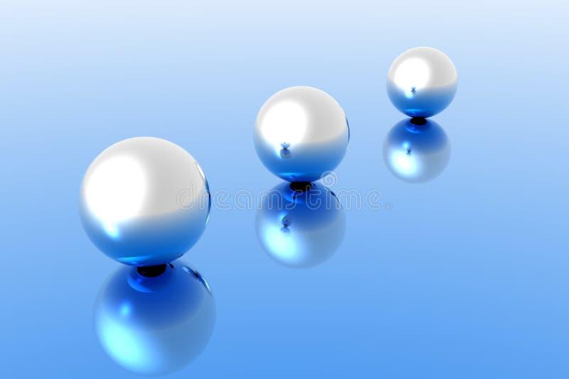 3 sphères illustration libre de droits