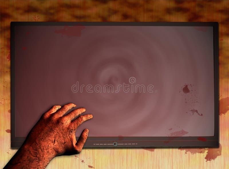 3 splamiony krwią tv ilustracji