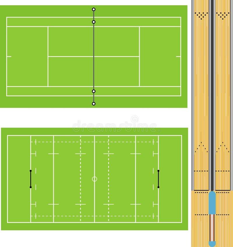 3 sportsfields royalty ilustracja