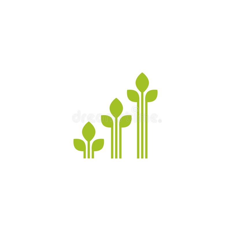 Free 3 Sprouts With Green Leaves. Growing Process Vector Flat Icon. Income, Money Growth, Investment Metaphor Royalty Free Stock Photo - 210555965