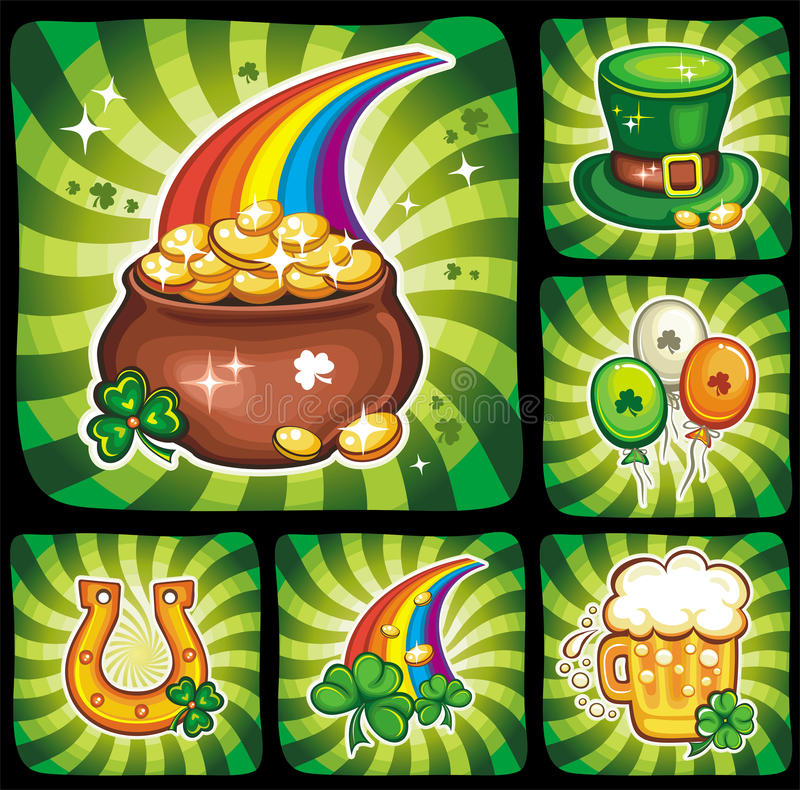 3 St. Patrick's Day icon set series 3 vector illustration