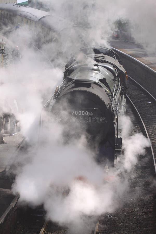 3 stacj parowy pociąg zdjęcia royalty free