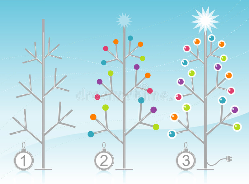 Download 3-Step Christmas Tree Decorating Kit Stock Vector - Image: 6998915