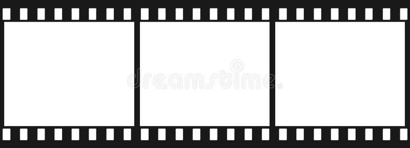 3 svarta plana bilder stock illustrationer