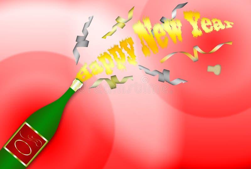 3 szczęśliwego nowego roku ilustracji