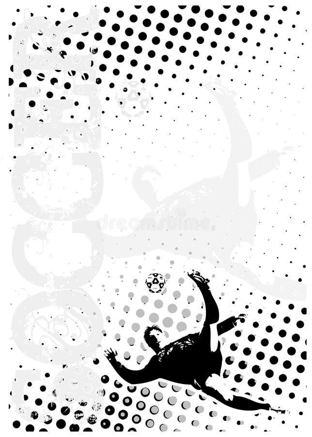 3 tła kropek plakata piłka nożna royalty ilustracja