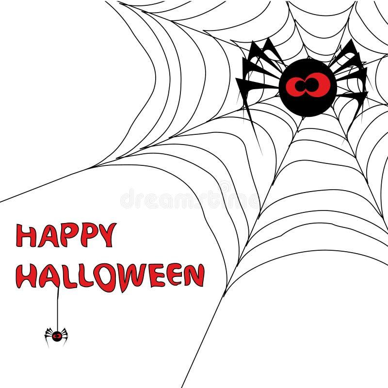 3 tło Halloween s pająka sieć royalty ilustracja