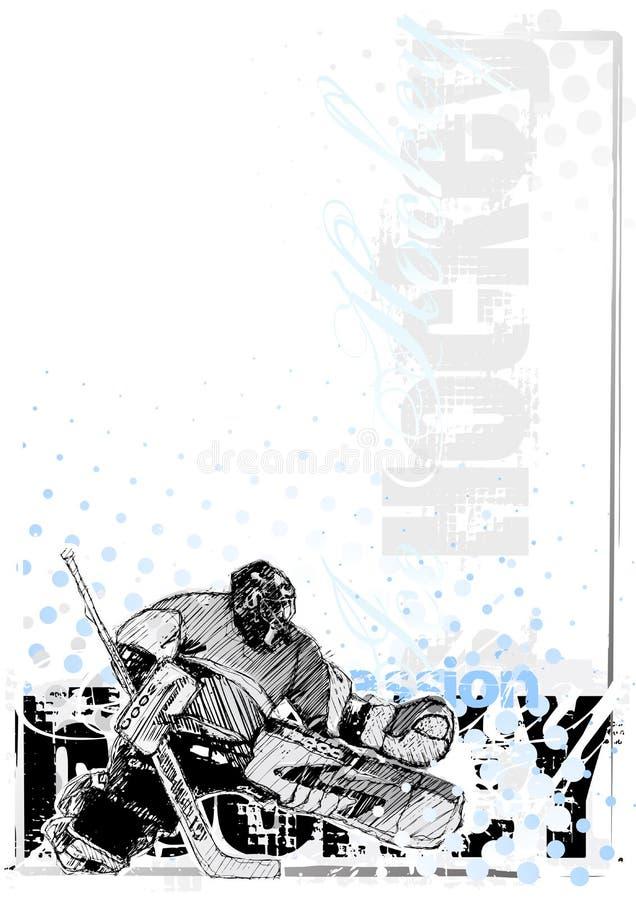 3 tło hokeja lód ilustracja wektor