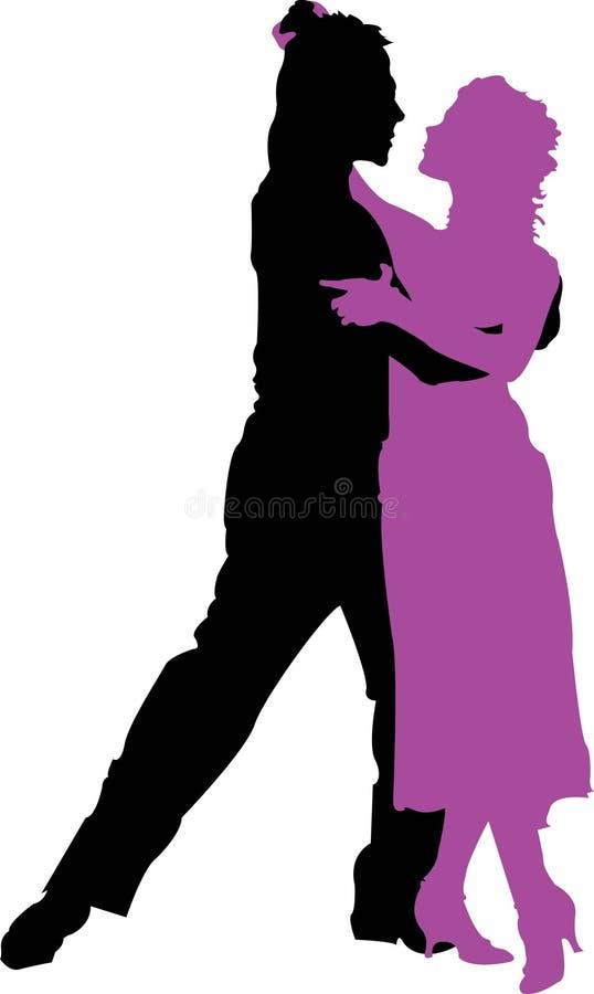 3 tancerzy tango ilustracja wektor