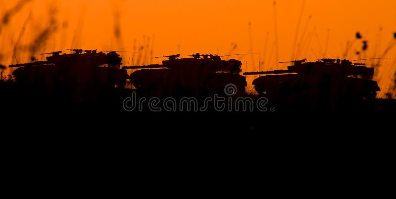 3 Tanks At The Field Royalty Free Stock Image