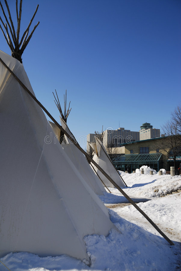 Download 3 tepees stock photo. Image of downtown, canvas, living - 2089862