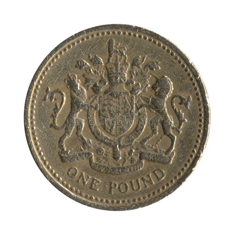 3 tillbaka brittiska myntdesignpund royaltyfri fotografi