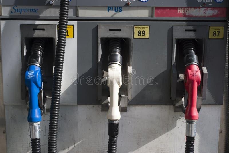 3 ugelli del passaggio del gas da dietro immagini stock libere da diritti