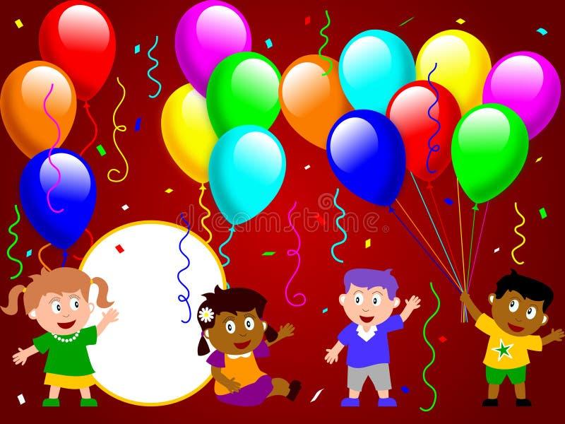 3 ungar party tid stock illustrationer