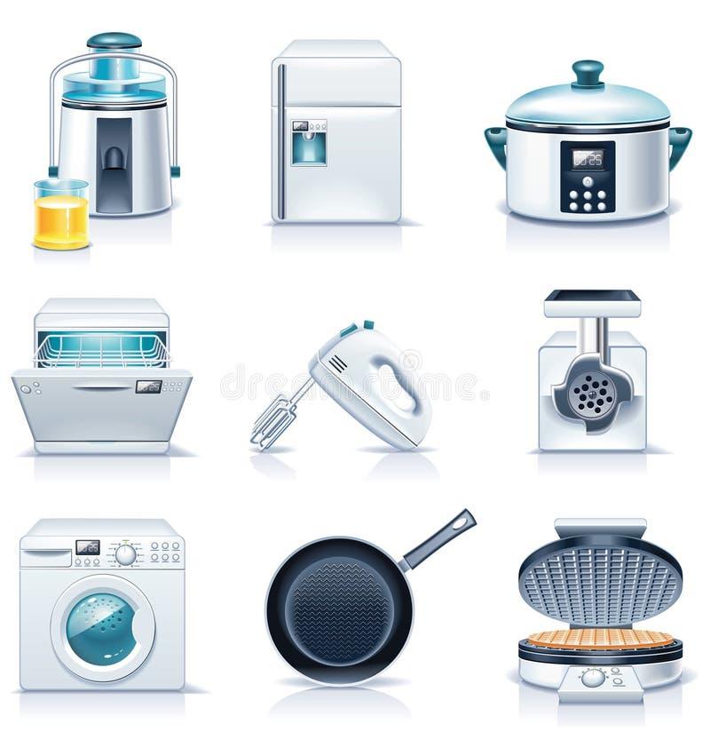 3 urządzeń gospodarstwa domowego ikon część wektor ilustracji