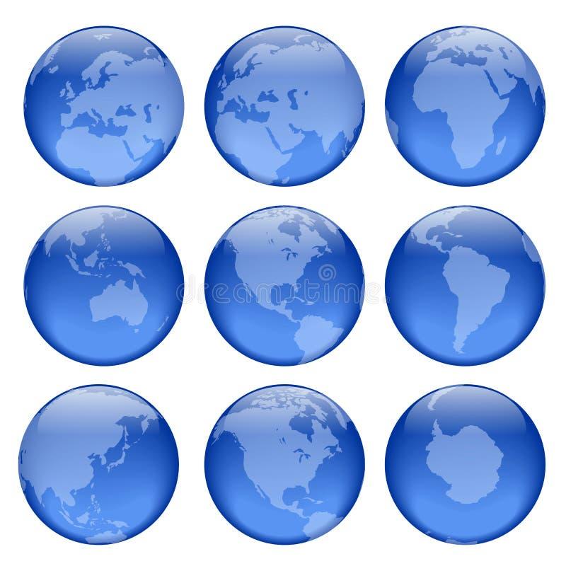 3 uwagi na globus royalty ilustracja