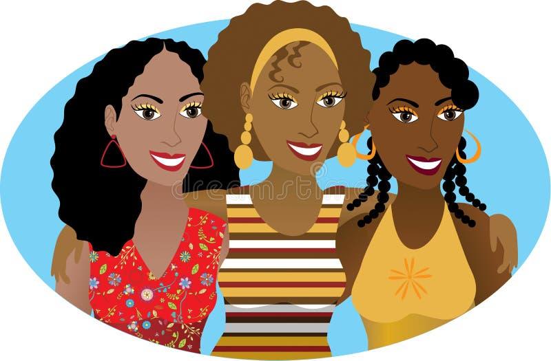 3 vänner royaltyfri illustrationer