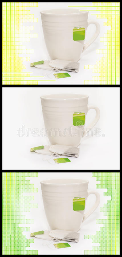 3 variations de tasse de thé photo stock