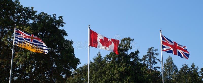 3 Vlaggen Royalty-vrije Stock Afbeeldingen