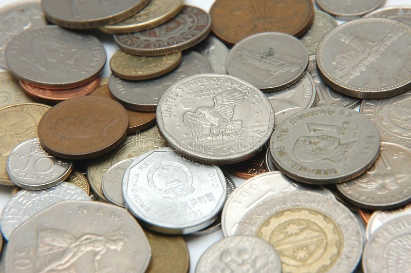 3 walut świata zdjęcie stock