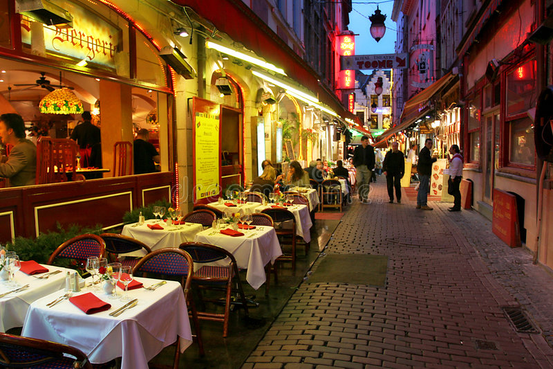 3 wieczorem Brukseli zdjęcia stock