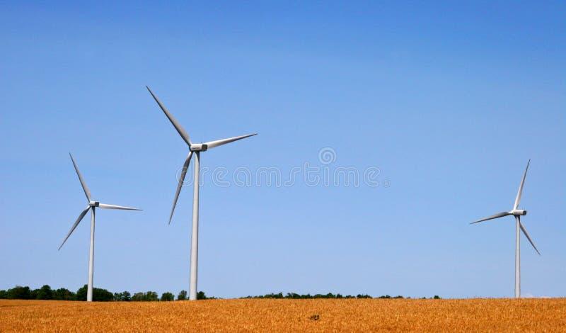3 windmolens royalty-vrije stock afbeeldingen