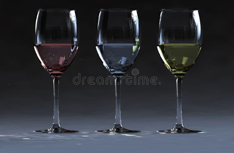 3 wine stock photo