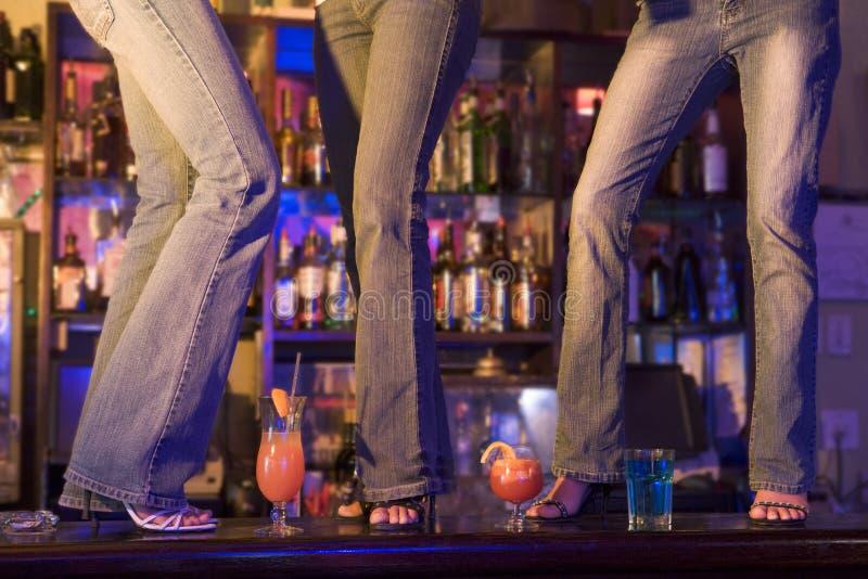 Download 3 Women Dancing On Bar stock image. Image of indoors, enjoy - 4789023