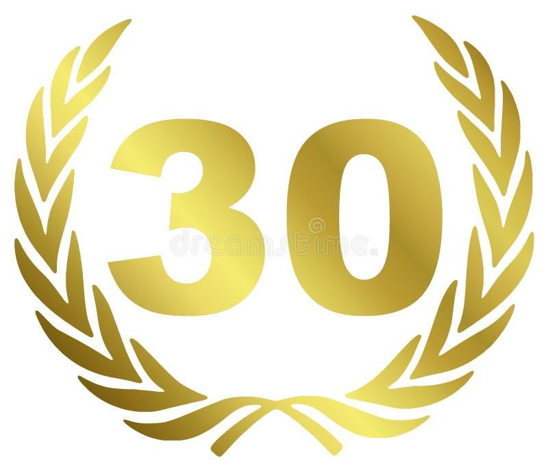 30周年纪念 皇族释放例证