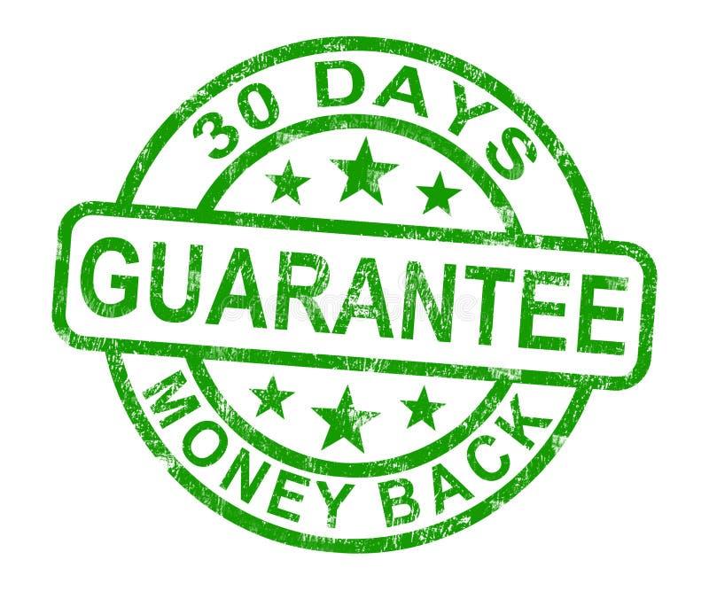 30天货币返回保证印花税 皇族释放例证