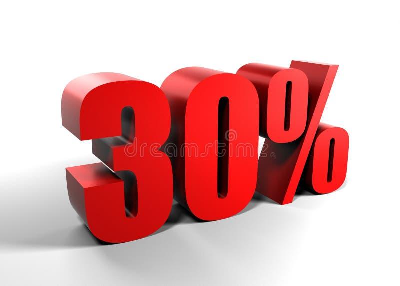 30 процентов 30 иллюстрация штока
