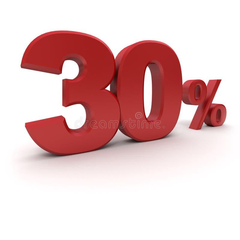 30% ilustração stock