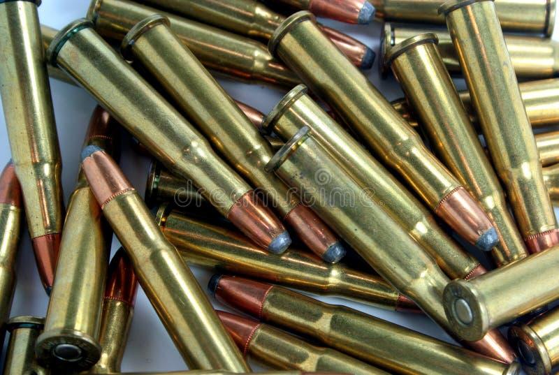 30-30 shelles del calibre imagen de archivo libre de regalías