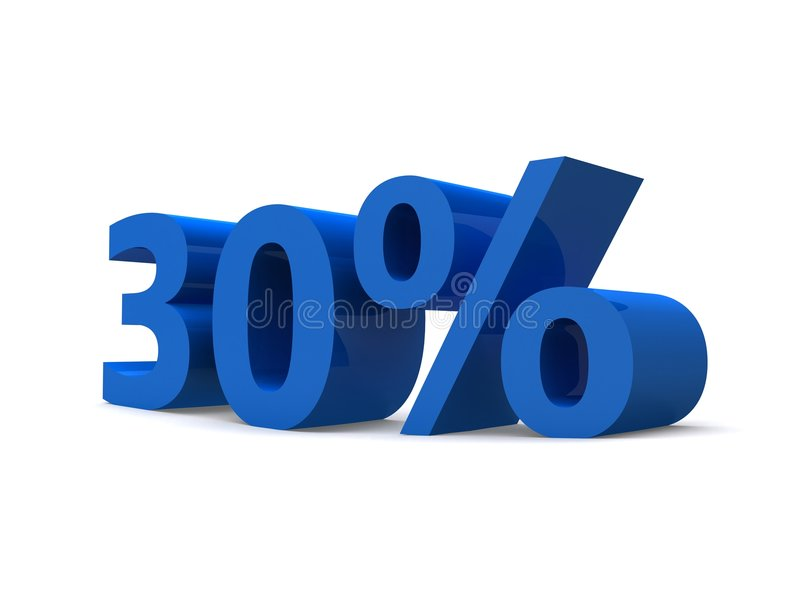 30% vector illustration