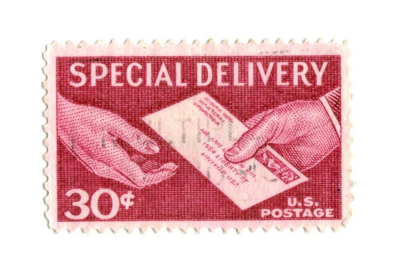 30 cent gammal portostämpel USA arkivbild